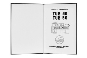 Lathe TUR 40 TUR 50 Operator's Instruction Manual